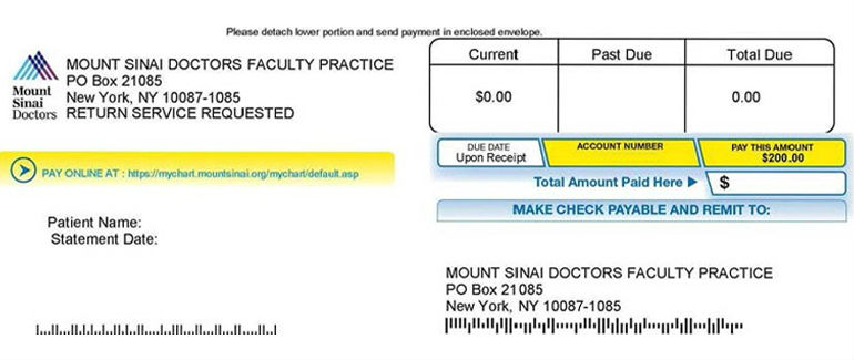 Pay Bill | Mount Sinai - New York