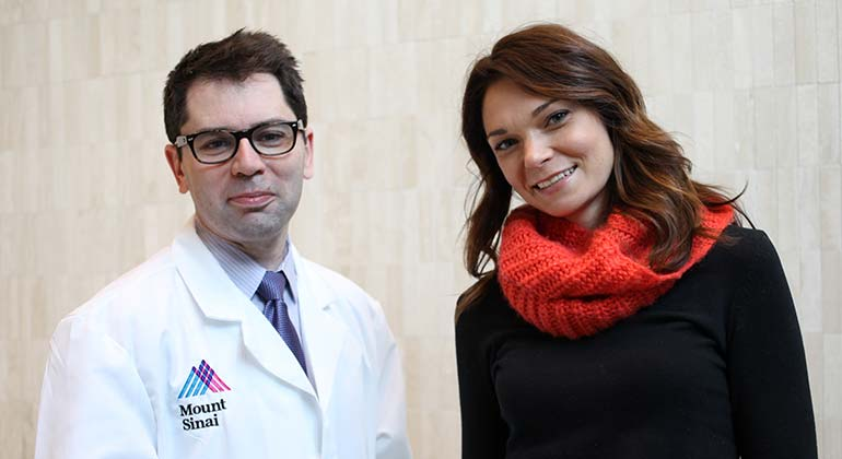 Image of Doctor and patient with red scarf