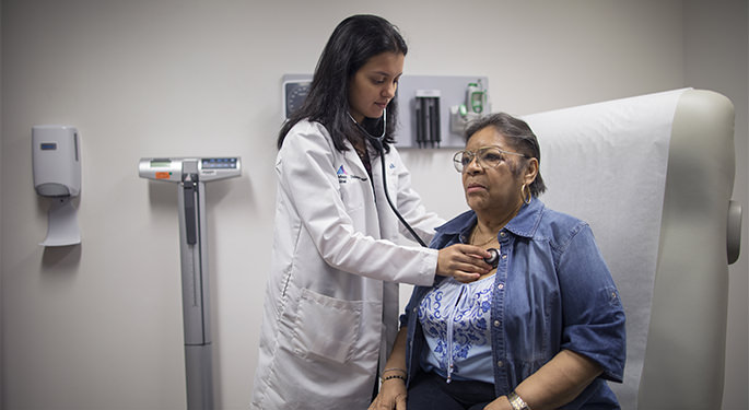 femaleDr. Nirali Shah examines a patient