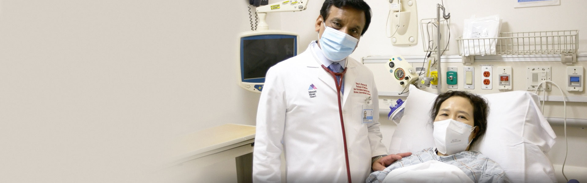 Dr. Sharma with his patient