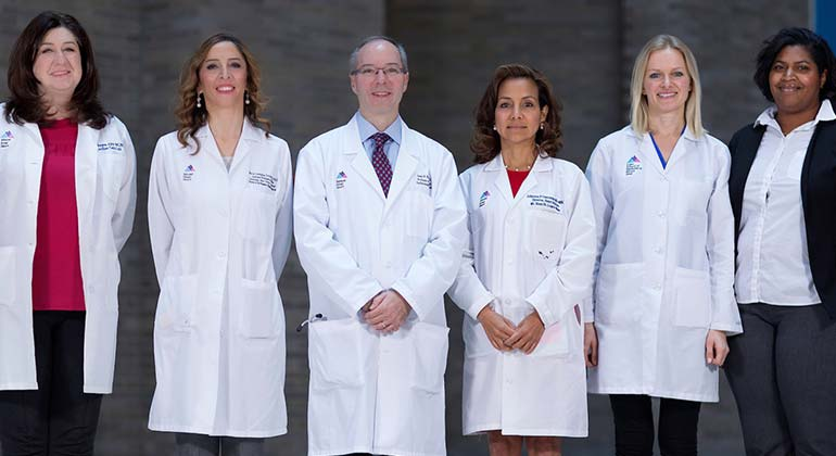 Group of pulmonology doctors