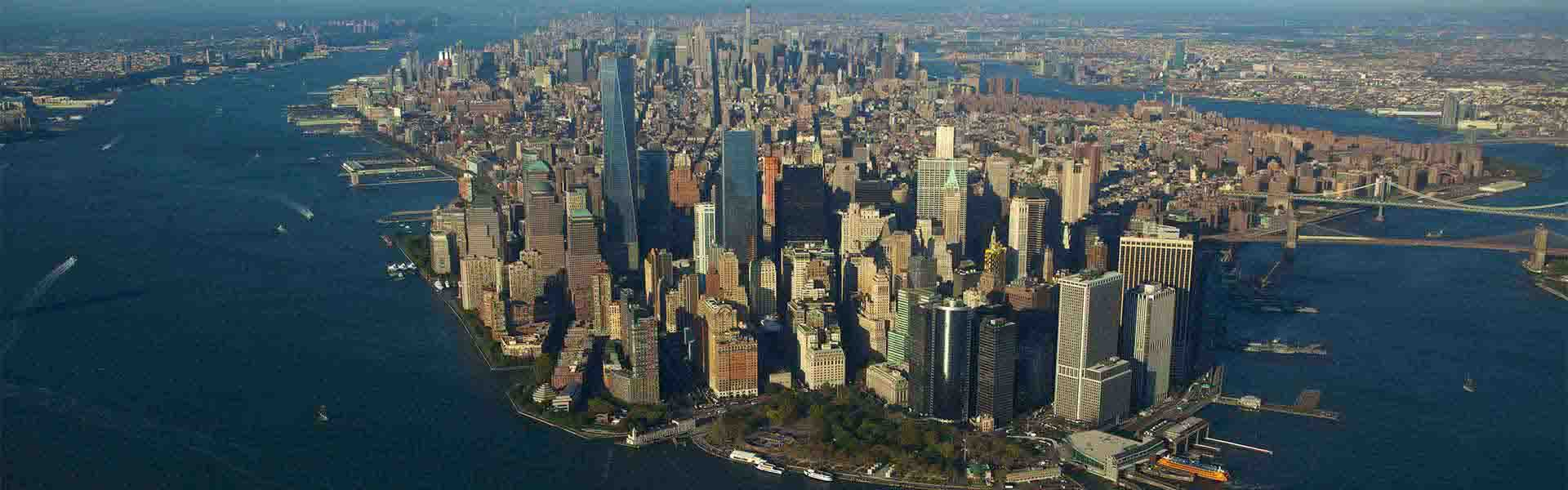 Aerial view of Manhattan skyline