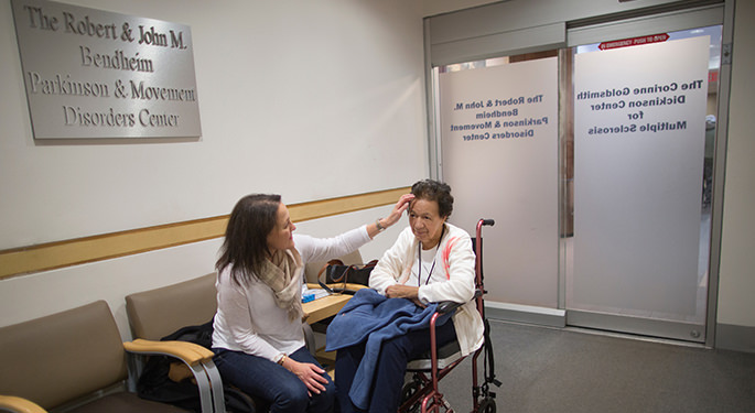 Image of patients at the Robert and John Bendheim Parkinson and Movement Disorder Center