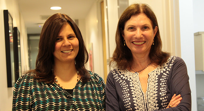 Image of social workers Tova Epstein and Donna Siegal