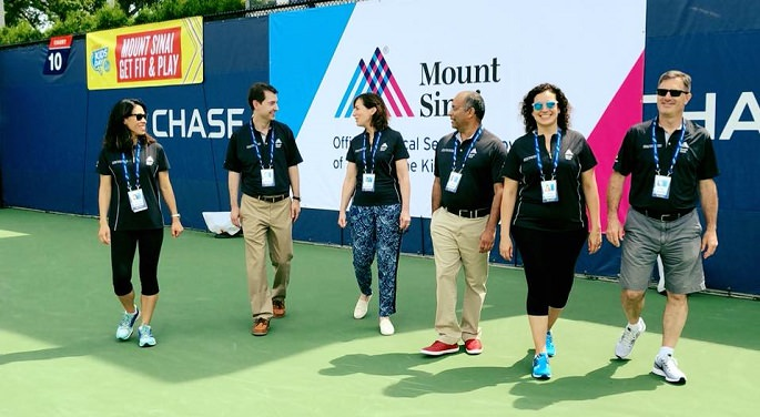Mount Sinai Doctors walking on the US Open Court