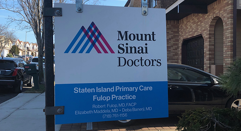 Mount Sinai Doctors Staten Island Primary Care Fulop Practice