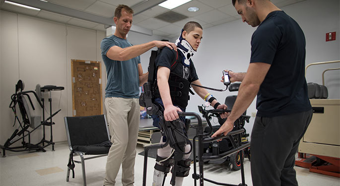 Exoskeletal Assisted Walking Therapy