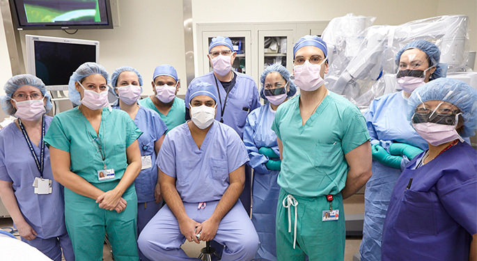 Group shot of Dr. Badani surgical team
