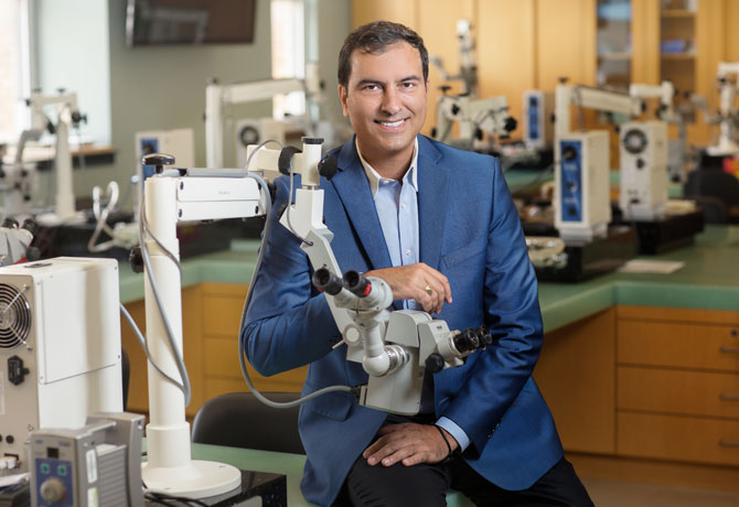 "A photo showing  Tsontcho Ianchulev, MD, and this quote from him: ""Through our Ophthalmic Innovation and Technology Program, we're creating an environment where the best and brightest ideas are not just taken out for a spin, but actually brought to life."""