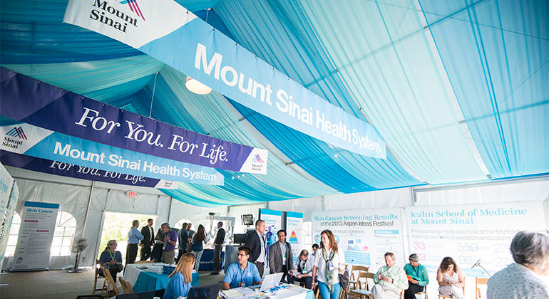 Aspen Ideas Festival attendees visit the Mount Sinai Health Concourse