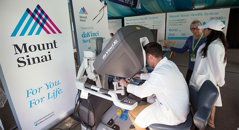 Mount Sinai presents the da Vinci® Surgical System robot at the Mount Sinai Health Concourse at the Aspen Ideas Festival