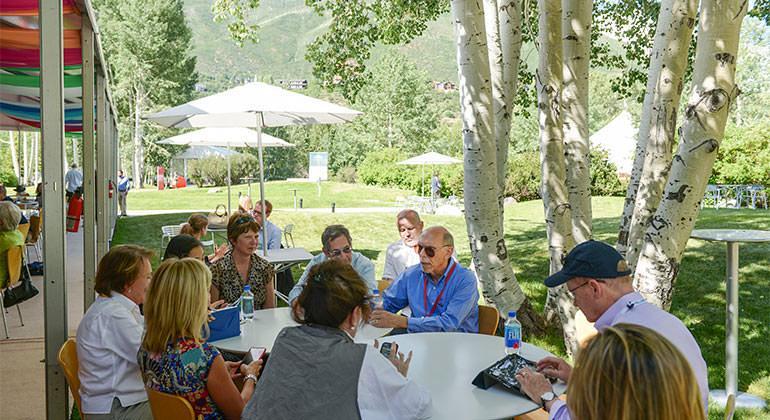 "Kenneth L. Davis, MD hosting during the Aspen Ideas Festival on the topic ""The Future of Health Care."""