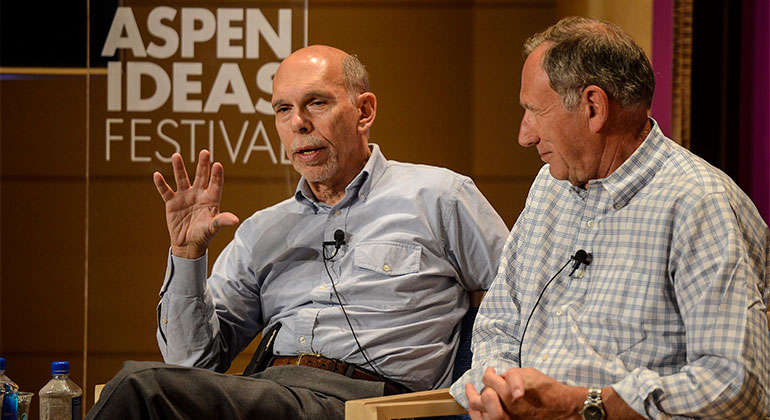 "Kenneth L. Davis, MD, addresses Aspen Ideas Festival attendees questions in the panel discussion: ""The Future of Medicine."""