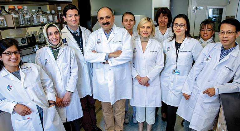 Image of doctor Zaidi and team