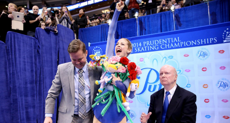 Gracie Gold in January 2014, after winning her first national championship