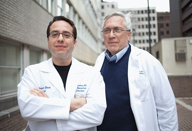 A photo of John Mascarenhas, MD, and Ronald Hoffman, MD