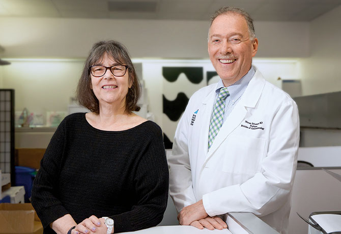 A photo of Lina H. Jandorf and Steven H. Itzkowitz, MD