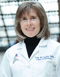 A photo of Lisa M. Satlin, MD, Herbert H. Lehman Professor and Chair, Jack and Lucy Clark Department of Pediatrics, and Pediatrician-in-Chief, Mount Sinai Kravis Children's Hospital