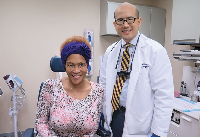 A photo of Tameka Ferdinand with Raymond Chai, MD.