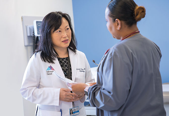 A photo showing Miriam Chung, MD