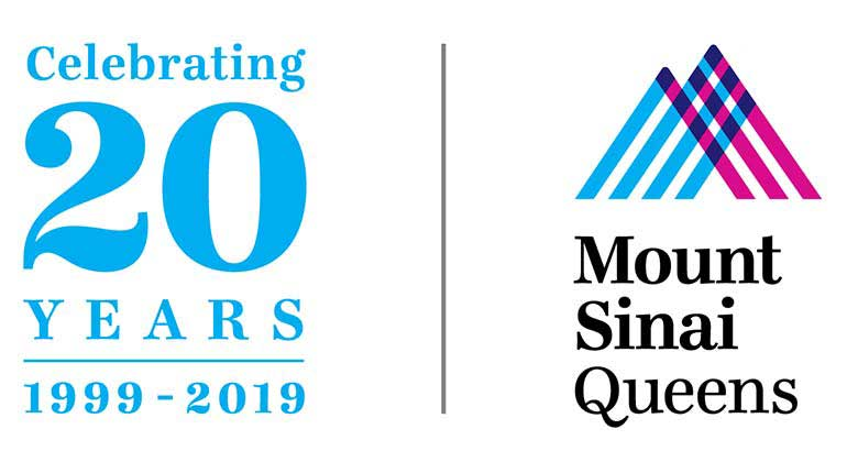 Mount Sinai Queens celebrating 20 years logo