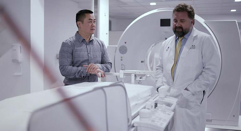 Doctors in MRI room