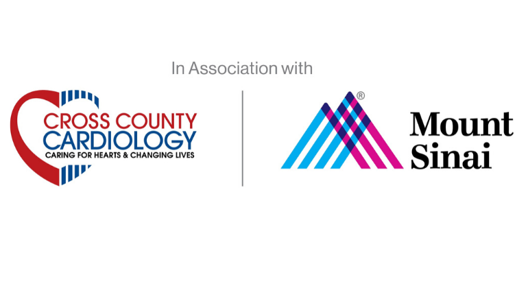 Cross County Cardiology and Mount Sinai logos