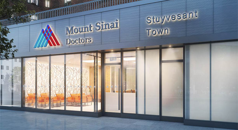 image of outside of Mount Sinai Doctors Stuyvesant Town
