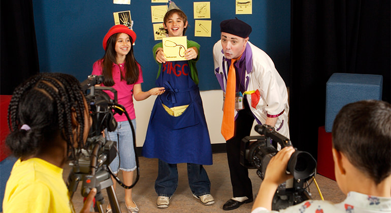 Kidzone TV crew filming