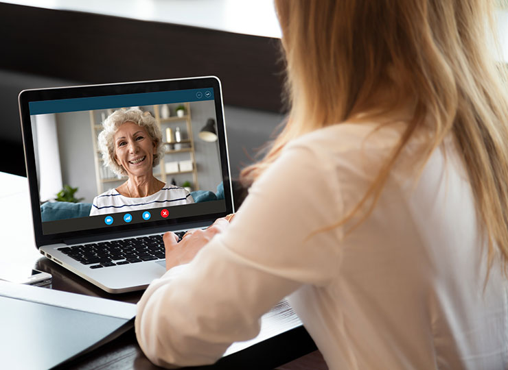 Photo of Woman and doctor using telemedicine