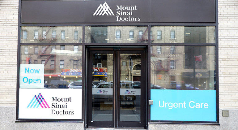 exterior view of the Mount Sinai Urgent Care Inwood office