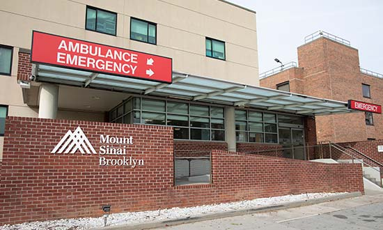 Exterior of Mount Sinai Brooklyn Emergency Department