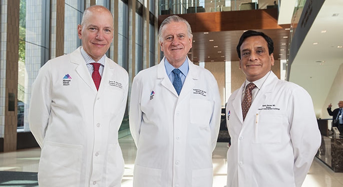 Image of doctors Adams, Fuster and Sharma
