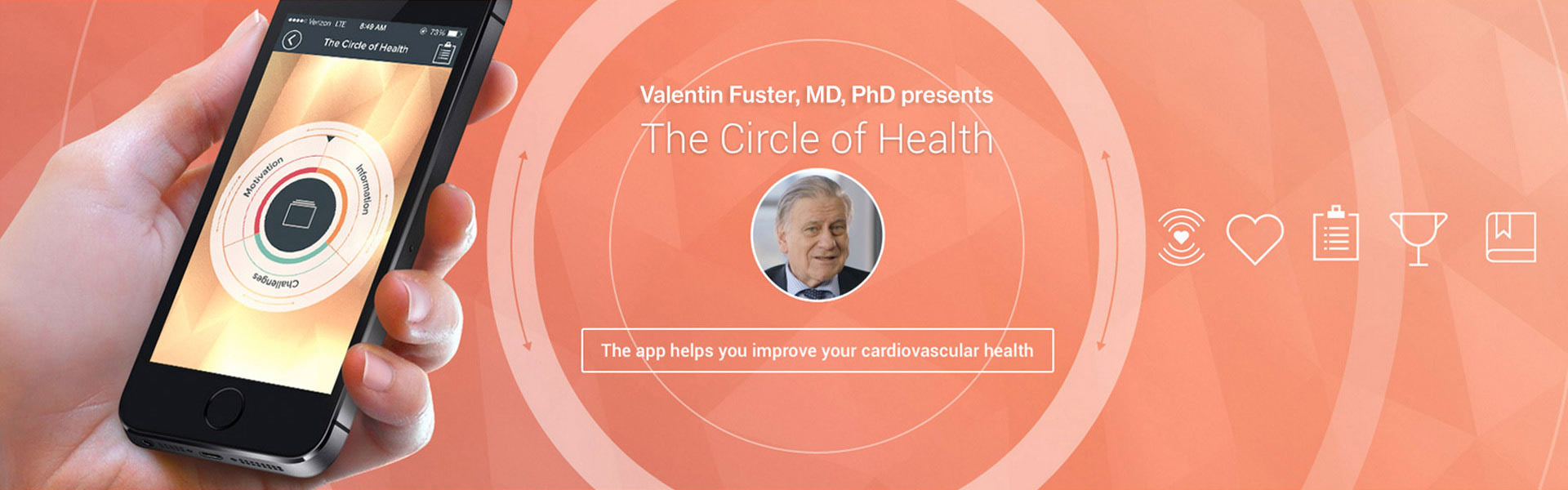 Image of the Circle of health phone app
