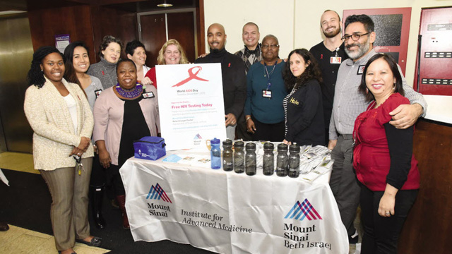 Community Outreach Mount Sinai Beth Israel Institute for Advanced Medicine Free HIV Testing group shot